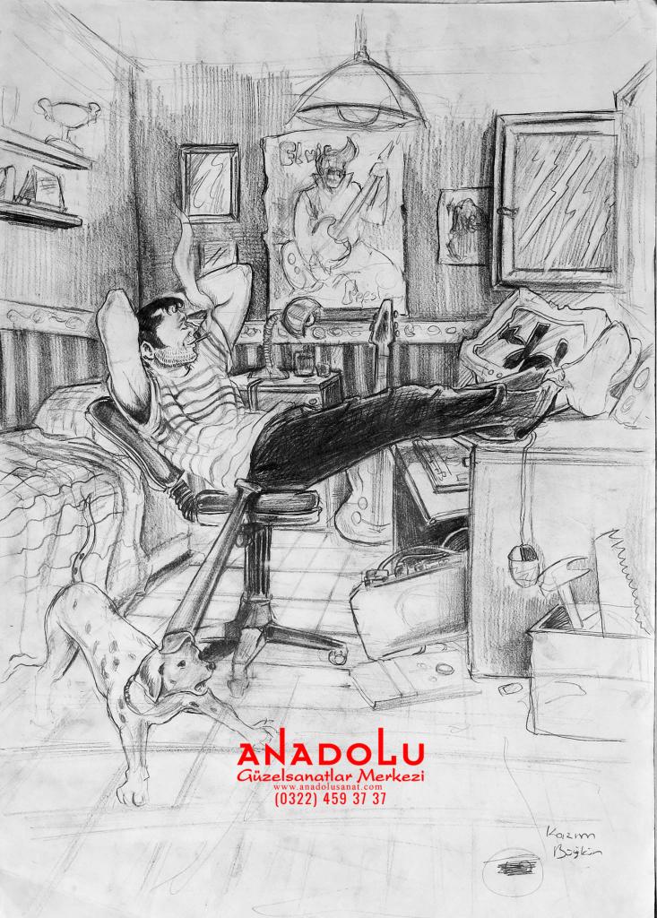 Anadolu Sanat İmgesel Çizimler Çanakkalede