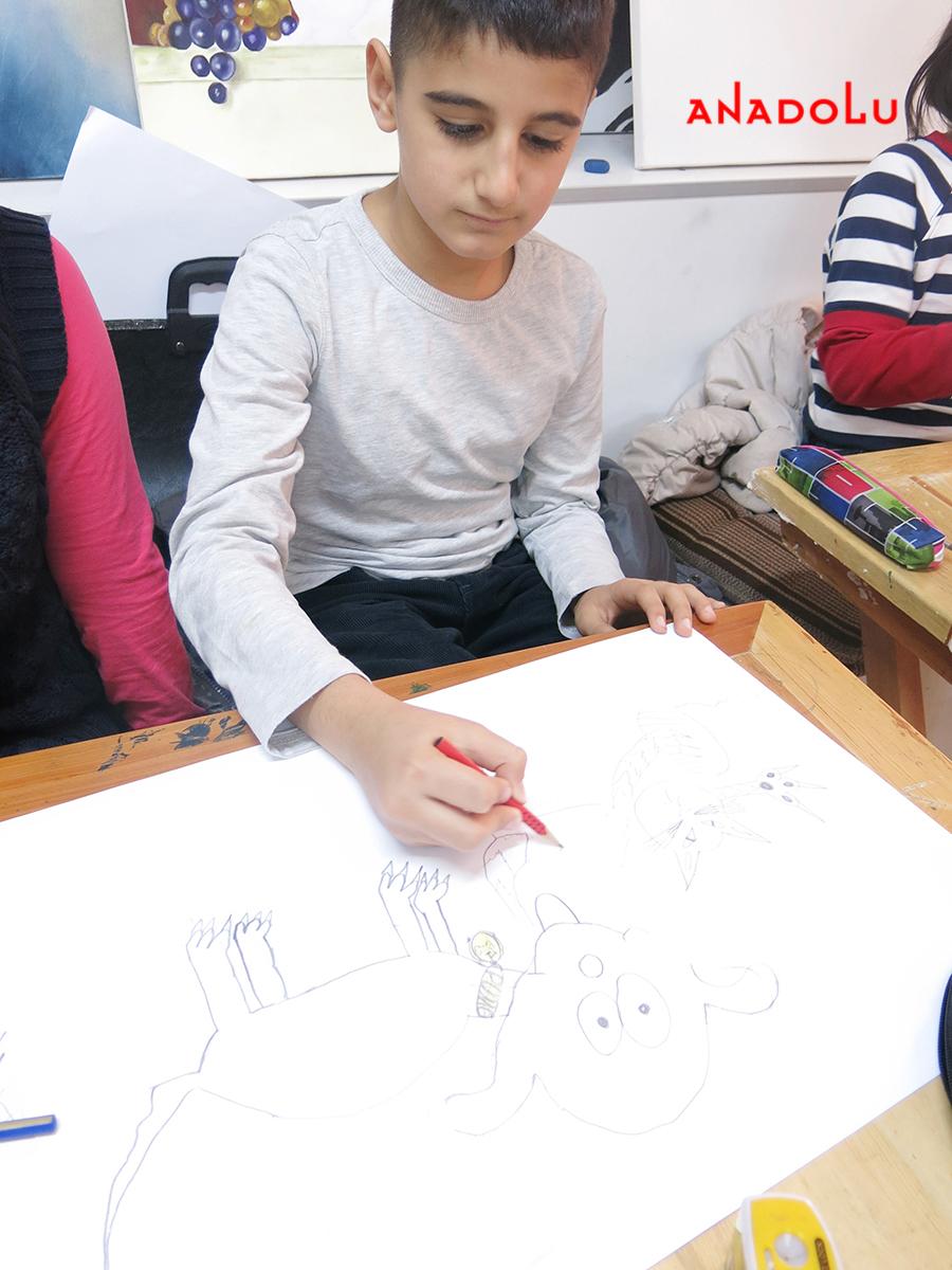 Çocuklar İçin Karakalem Eğitimleri Çanakkalede