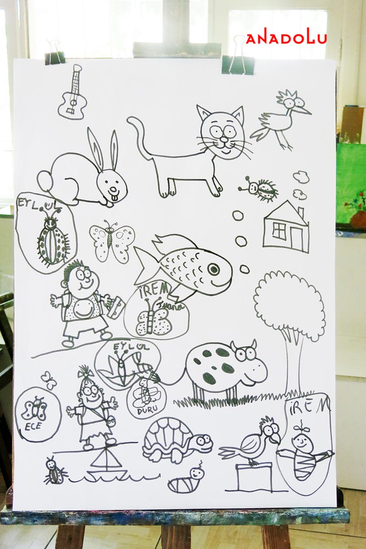 Çocuklarla Karakalem Çalışmaları Çanakkalede