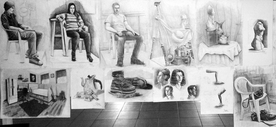 Güzel Sanatlarda Çıkmış İmgesel Çizimler Çanakkalede