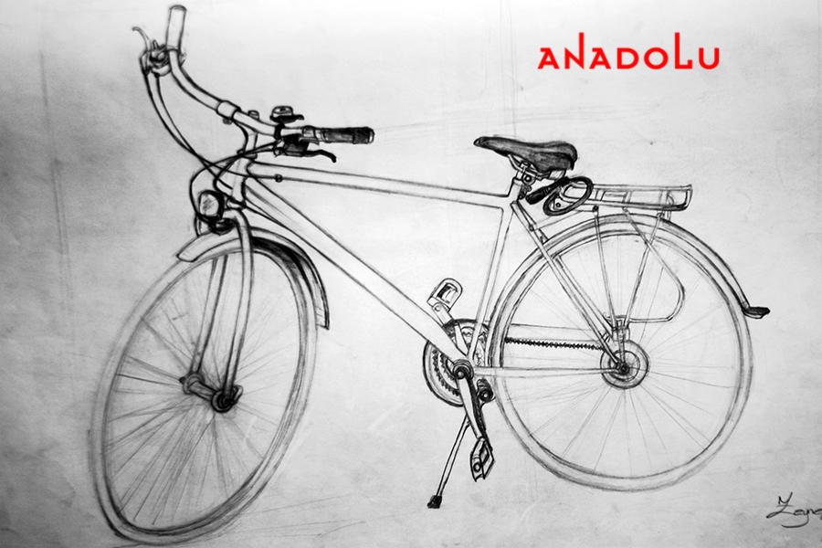 Bisiklet Çizim Örneği Çanakkalede