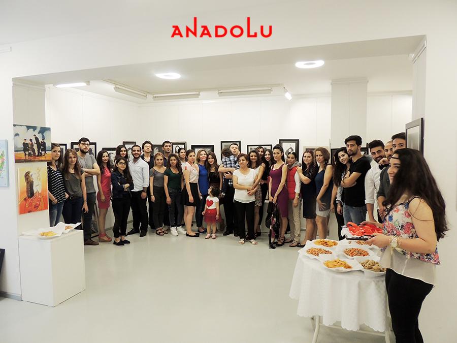 Anadolu Güzel Sanatlarda Sergi Açılışı Çanakkalede