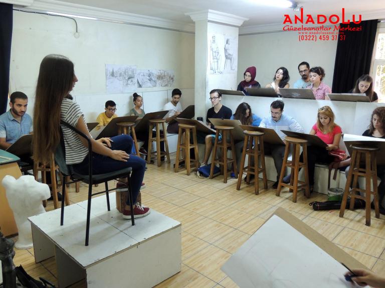 Anadolu Güzel Sanatlar Çizim Dersinde Çanakkalede