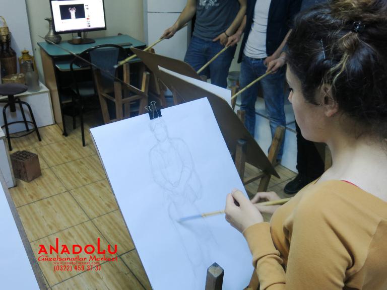 Güzel Sanatlara Hazırlık Desen Dersleri Çanakkalede