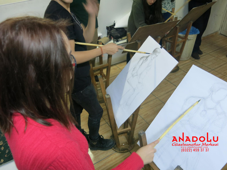Çanakkalede Anadolu Güzel Sanatlarda Orjinal Teknik Eğitimleri