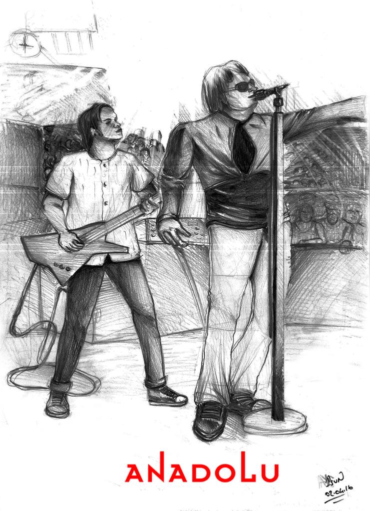 Çanakkalede Karakalem Şarkı söyleyenler