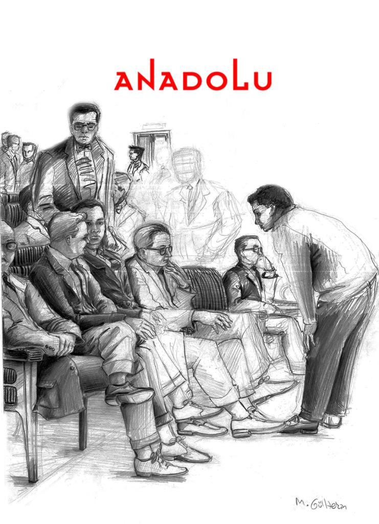 Çanakkalede Karakalem Toplantı Çizimi