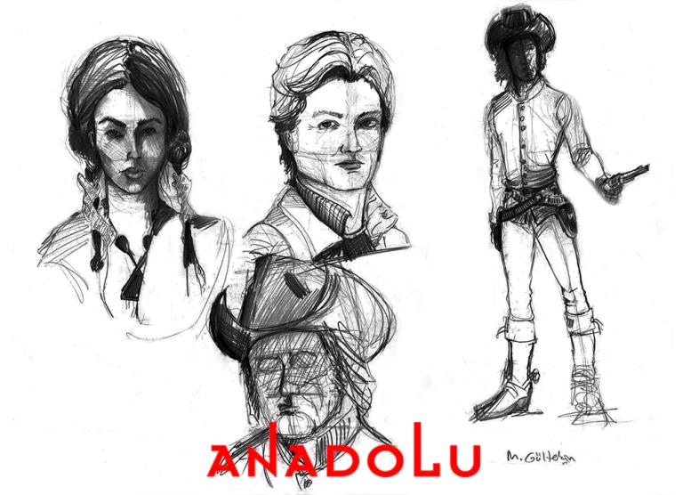 Karakalem Portre Çizimleri Çanakkalede